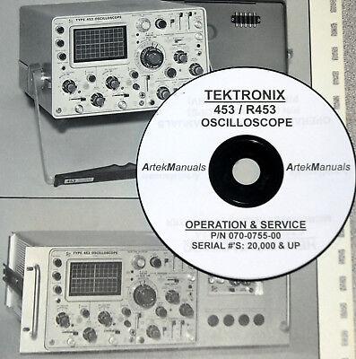Tektronix 453 R453 Oscilloscope Instruction Manual Serial 20000 Above
