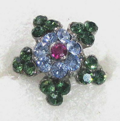 Little star-shaped rhinestone pin 3/4