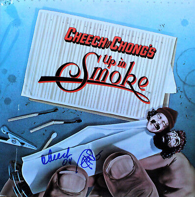 Cheech and Chong hand signed Up In Smoke vinyl record