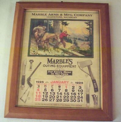 Marbles Knives Arms and Safety Axe Company Advertising Print Gladstone MI