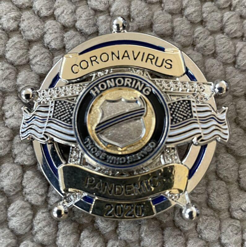 "Corona19 19pandemic Honoring Police 2020 5pt Small Pin 1 3/4"""