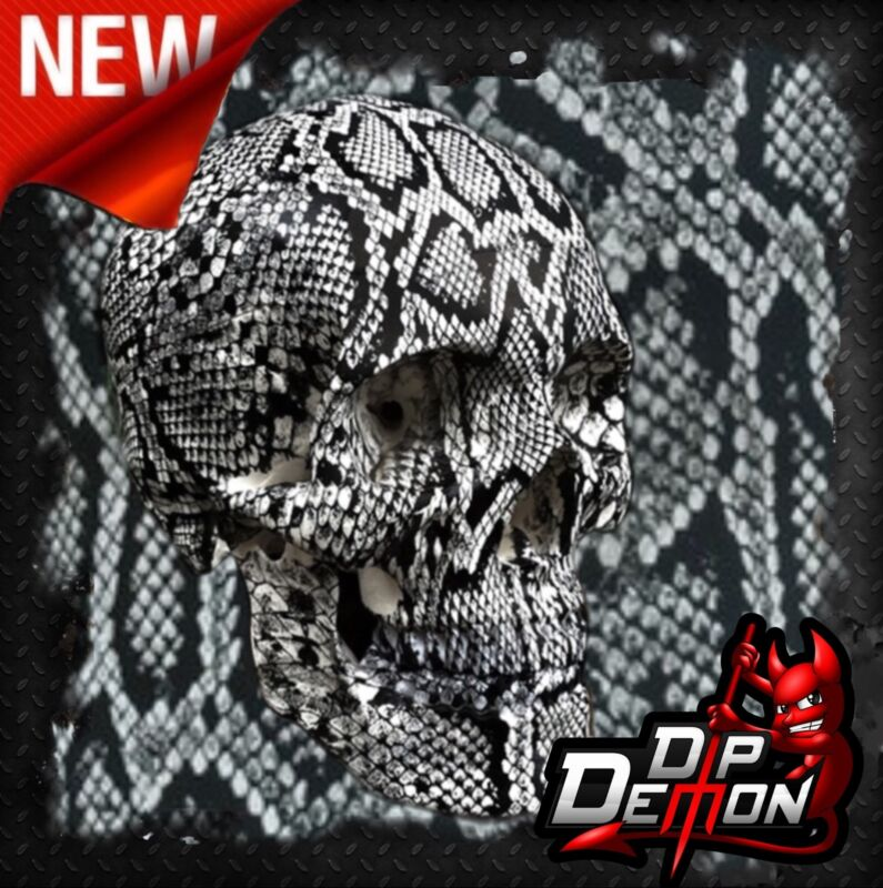 BLACK/CLEAR RATTLE SNAKE SKIN FILM HYDROGRAPHIC WATER TRANSFER HYDRO DIP DIPPING