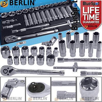 "Sockets & DEEP Socket Set 3/8"" Drive 8-24mm Tool Set With 72T Ratchet Extensions"
