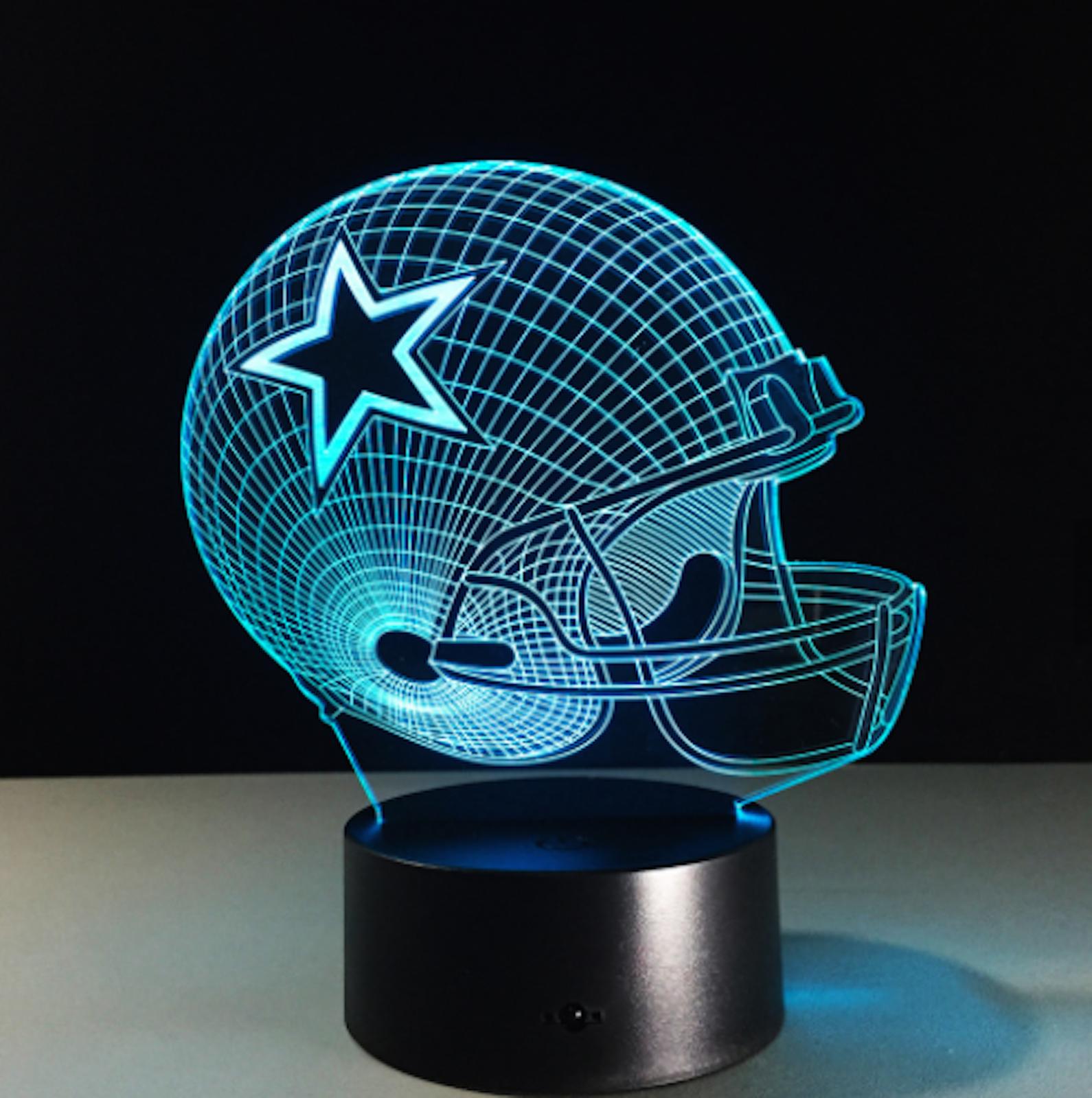 Dallas Cowboys Collectible NFL Decor Night Light Touch Lamp Gift- Men,Kids,Women