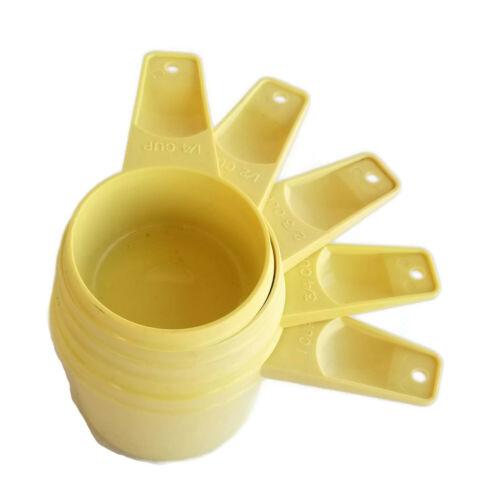 TUPPERWARE Vintage Nesting MEASURING CUPS Harvest Gold Partial Set of 5