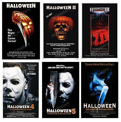 Halloween 1 2 3 4 5 Michael Myers 6 Poster Canvas 11