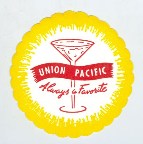 Vintage Union Pacific Railroad Colorful Drink Coaster