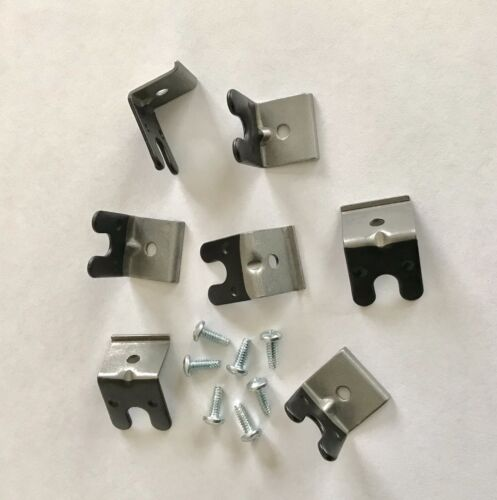 New Boss 429 Mustang neoprene coated spark wire clips & correct screws Set of 7.