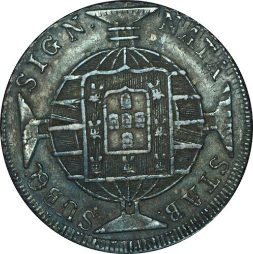 1820-R Brazil 960 Reis Silver Crown Choice AU Condition