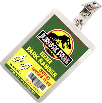Park Ranger Costumes (Jurassic Park Dinosaur Ranger ID Badge Name Tag Card Costume Cosplay Prop)