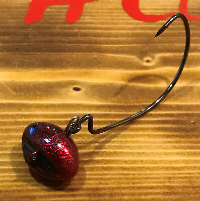 Bob4Bass Skirted Light Wire Football Jig w//Mustad Hook Zoom Colors