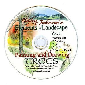 Cathy-Johnsons-sketching-drawing-Trees-tutorial-Artist-CD-mixed-media-2011