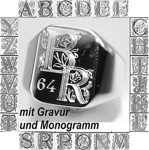 Siegelring,Herrenring,Damenring,Luxxusring,Unisexring mit Monogramm und Gravur
