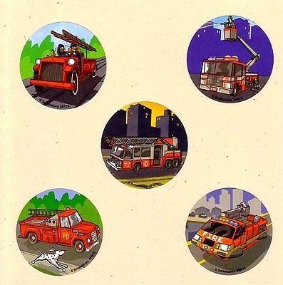 15 Fire Trucks - Large Stickers - Party Favors