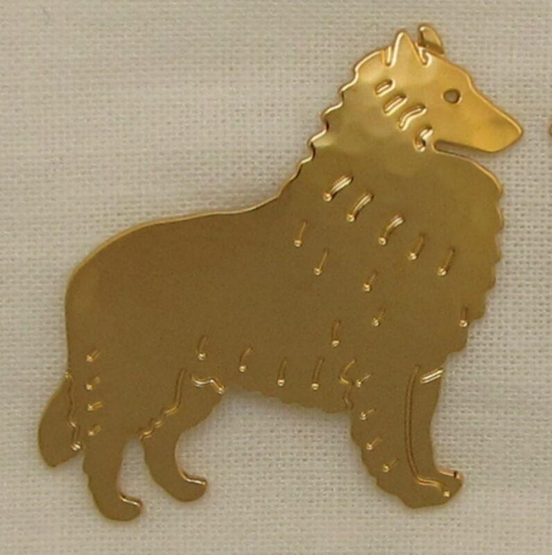 Belgian Tervuren Sheepdog Jewelry Gold Locking Back Pin