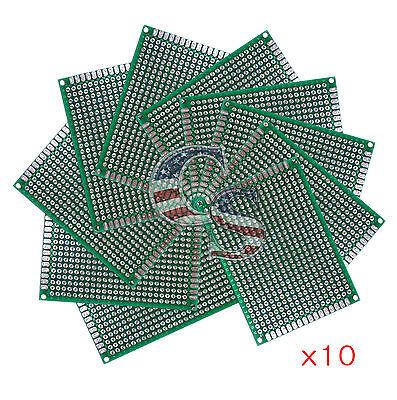 10pcs 5x7 Cm Double Side Diy Prototype Circuit Breadboard Pcb Universal Boardg