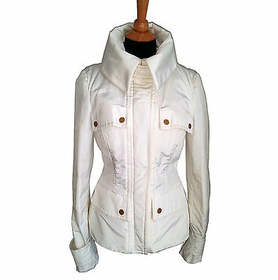 Gucci White Ski Jacket with Removable Fur Llining Size 46 Italian / 10 USA