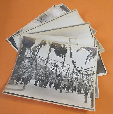 1902 Lot 5 King Edward VII Coronation Valetta Malta Photograph Prints Old RARE