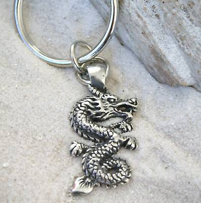 FANTASY CHINESE DRAGON Pewter KEYCHAIN Key Ring