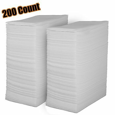 Linen Feel Disposable Guest Towels - Cloth Like White Paper Hand Napkins 200