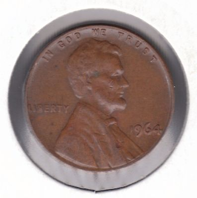 United States 1 Cent 1964 Bronze Coin - Lincoln Memorial