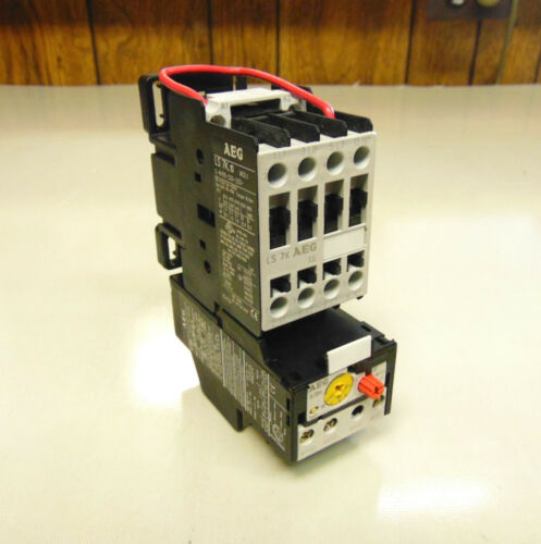 AEG LS7K.10 CONTACTOR ASSEMBLY W/ ATTACHED B18K OVERLOAD RELAY *UNUSED SURPLUS*