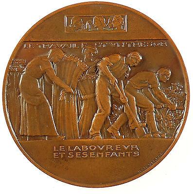 Fontaine Bronze - Fontaine's fable LE LABOUREUR ET SES ENFANTS By Jean Vernon bronze 59mm