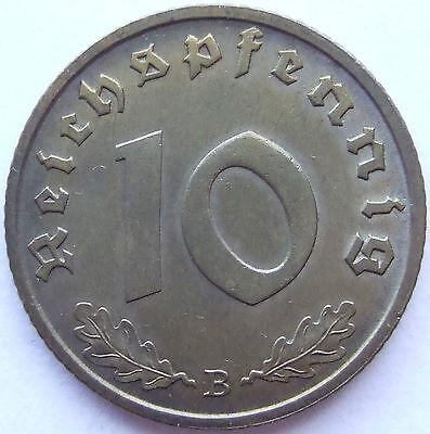 TOP! 10 Pf 1939 B in fast STEMPELGLANZ SELTEN !!!