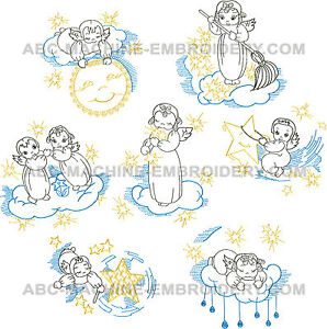 Abc designs little angels machine embroidery designs set 5 for Embroidery office design 7 5 full