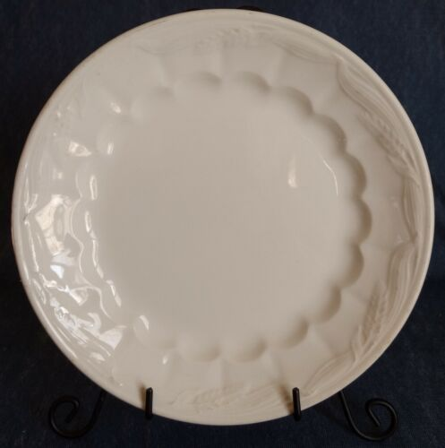 Royal Staffordshire Pottery ~ Wilkinson, England ~ WHITE IRONSTONE PLATE ~ Wheat