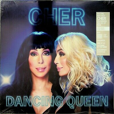 CHER - Dancing Queen, Sings The Best of ABBA LP (NEW *BLUE COLOURED VINYL* 2018)