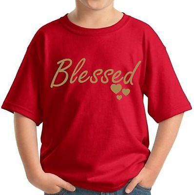 Blessed Kid's Christmas Shirt Thanksgiving Christian Gift Holiday Shirt for Kids](Christian Christmas Gifts)