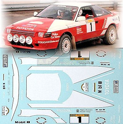 1:24 Decal - Toyota Celica GT-Four - Winner of South Swedish Rally 1989