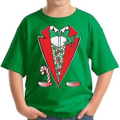 Funny Costumes For Teens (Christmas Tuxedo Christmas Shirts for Kids Funny Kid's Xmas Costume Holiday)