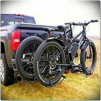 Hitch Tray Bike Big Fat Tire Rack Mount Trailer Suv Tray Style Universal Carrier ()