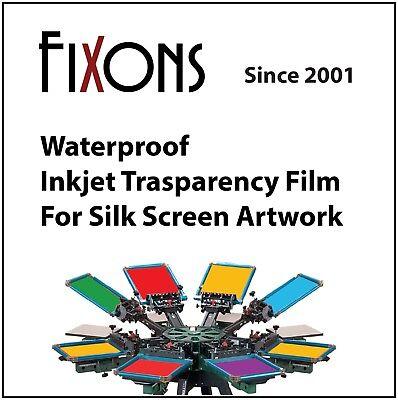 Waterproof Inkjet Transparency Film 8.5 X 11 - 50 Sheets