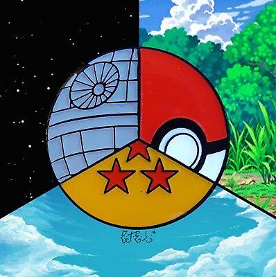Hard Enamel Lapel Pin! (Star Wars/Death Star, Pokemon/Poke Ball, Dragon Ball (Star Lapel Pin)