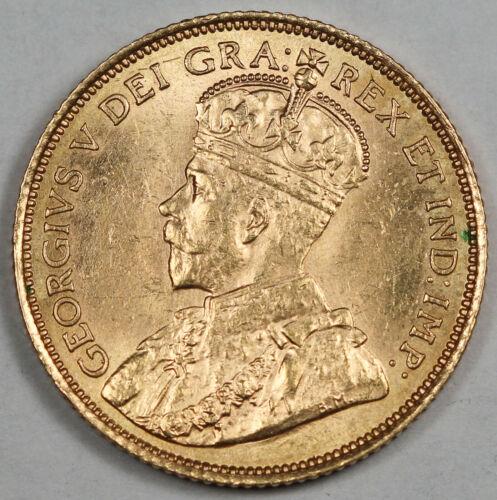 Canada 1912 $5 Gold Coin GEM BU King George V KM# 26 0.2419 Oz AGW