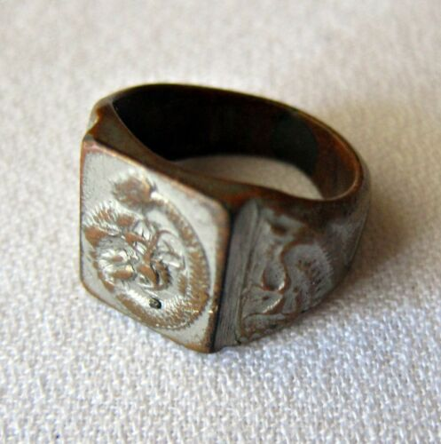 ANTIQUE CHINESE RING - SHANGHAI 1946 - Dragons and Phoenix