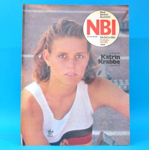 DDR NBI 34 1989 FKK Kyritz Radebeul Stendal Katrin Krabbe Raumfahrt Leutratal E