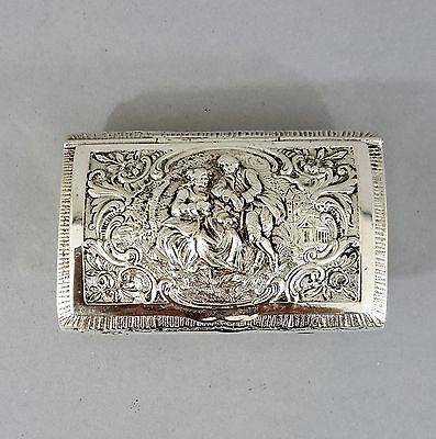 Edele Silber Tabatiere / Schnupftabakdose, um 1900