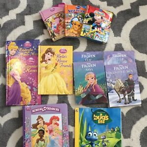 Disney Princess Books (w. 4 Frozen short stories)