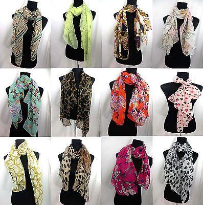 $2.50/p lot of 12 spring summer wholesale women chiffon scarves beach miniskirts