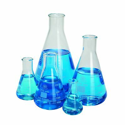 Erlenmeyer Flask Set Of 5 Borosilicate Glass