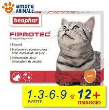 Beaphar Fiprotec Spot-On Gatti  - 1 / 3 / 6 / 9 / 12 pipette - Antiparassitario