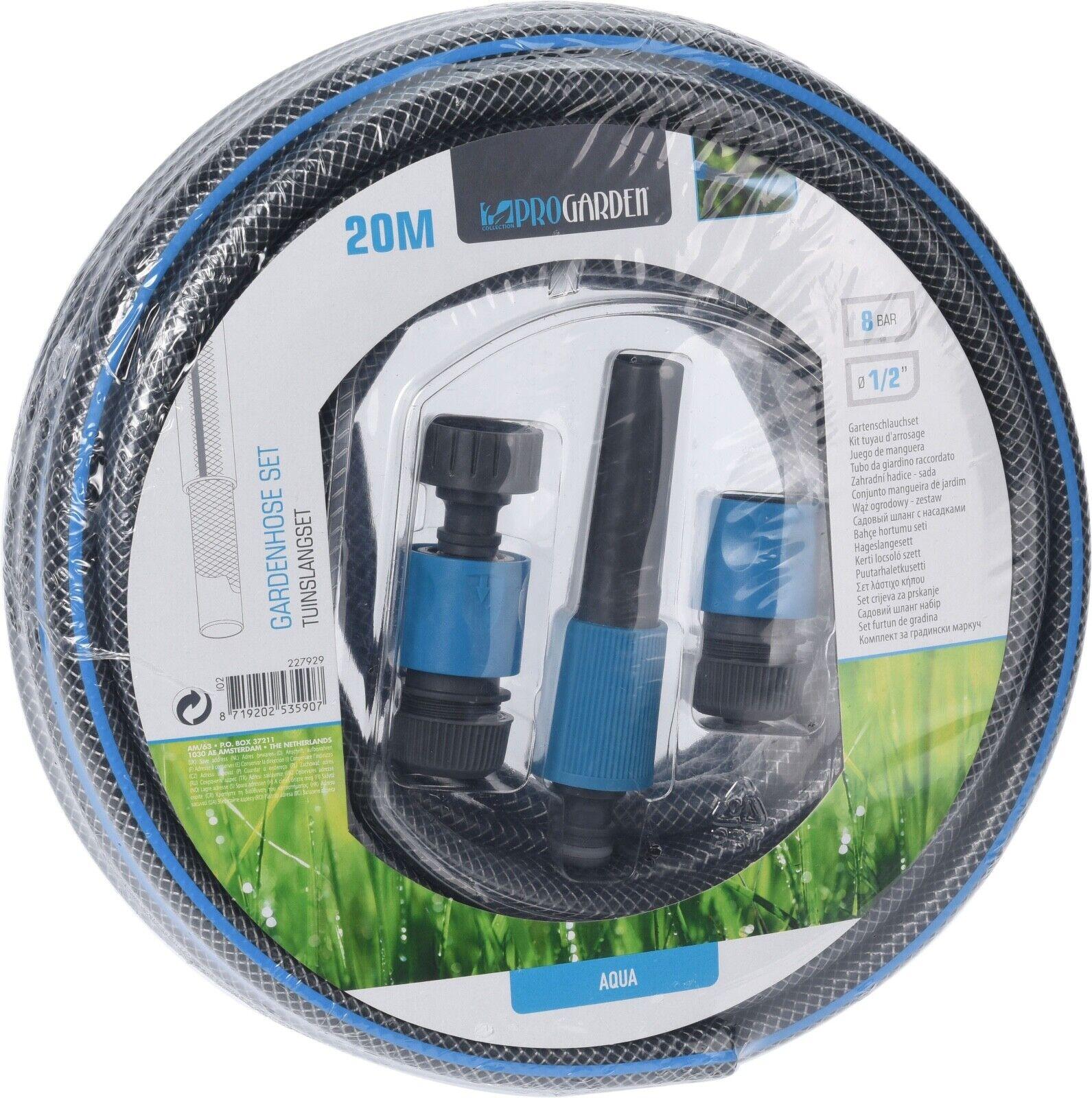 20m Gartenschlauch Set 1/2 Zoll Wasserschlauch 5 teilig Bewässerung 1m-Muster