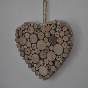Driftwood Heart Bathroom Shabby Chic Hand Crafted Charm Home Decor 5.5