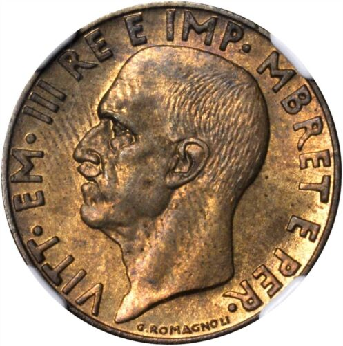 1940 Albania 0.10 Lek, NGC MS 63