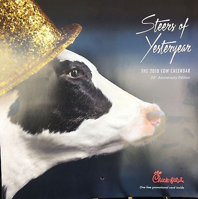 2018 Chick Fil A Calendar Only  No Card   Buy One  Get One Free