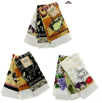 Kitchen Hand Dish Towels ~ Assorted Designs ~ New  Kitchen Towels Mitt